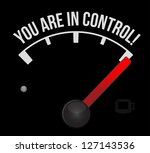 speedometer with the words you... | Shutterstock . vector #127143536