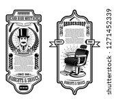 barber shop flyer template.... | Shutterstock .eps vector #1271452339