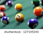 billiard ball with number one... | Shutterstock . vector #127145243