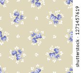 seamless background with floral ...   Shutterstock .eps vector #1271457619