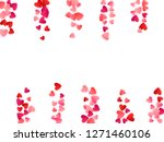 red flying hearts bright love...   Shutterstock .eps vector #1271460106