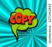copy  paste comic text speech... | Shutterstock . vector #1271462833