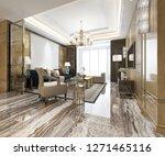 3d rendering luxury classic... | Shutterstock . vector #1271465116