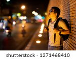 tourist walking and traveling... | Shutterstock . vector #1271468410