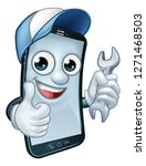 a mobile phone repair service... | Shutterstock .eps vector #1271468503