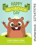 cute cartoon marmot looking... | Shutterstock .eps vector #1271475793