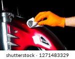 car polish wax worker hands... | Shutterstock . vector #1271483329