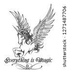 flying unicorn and wording... | Shutterstock . vector #1271487706