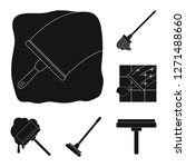 vector illustration of mop and... | Shutterstock .eps vector #1271488660
