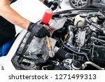 cars in a carwash. car wash...   Shutterstock . vector #1271499313