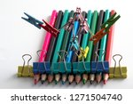 man  from multi colored office... | Shutterstock . vector #1271504740