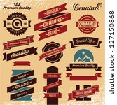 vintage labels. retro ribbons... | Shutterstock .eps vector #127150868
