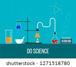 laboratory equipment for... | Shutterstock .eps vector #1271518780