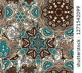 seamless pattern in eastern...   Shutterstock .eps vector #1271542099