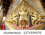 wat phra keaw beautiful... | Shutterstock . vector #1271554570