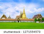 wat phra keaw beautiful... | Shutterstock . vector #1271554573