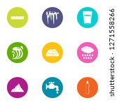 icing icons set. flat set of 9... | Shutterstock . vector #1271558266