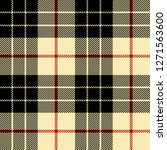 black beige and red tartan... | Shutterstock .eps vector #1271563600