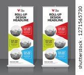roll up banner design template  ... | Shutterstock .eps vector #1271565730