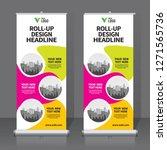 roll up banner design template  ...   Shutterstock .eps vector #1271565736