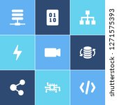 big data icon set and data flow ...