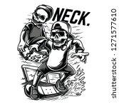 neck inc black and white...   Shutterstock .eps vector #1271577610