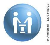 political debate icon. simple... | Shutterstock . vector #1271590723