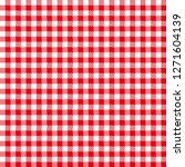 tablecloth for classic red... | Shutterstock .eps vector #1271604139