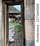 View Through A Doorway At An...