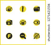 interface icons set with f...