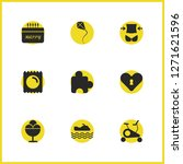 healthy icons set with heart...