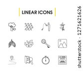 pack icons set with oven  wave...