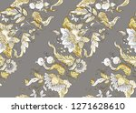 seamless pattern with stylized... | Shutterstock .eps vector #1271628610