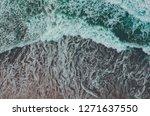 Aerial Top View Of Ocean Wave...