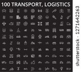 transport  logistics editable... | Shutterstock .eps vector #1271642263