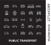 public transport editable line...   Shutterstock .eps vector #1271642389