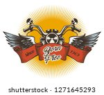 biker club colorful emblem.... | Shutterstock . vector #1271645293