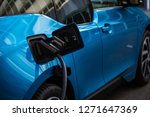 power supply for electric car... | Shutterstock . vector #1271647369