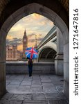 female tourist with a british... | Shutterstock . vector #1271647816
