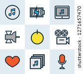 multimedia icons colored line... | Shutterstock .eps vector #1271657470