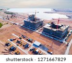 aerial view of a construction... | Shutterstock . vector #1271667829