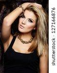 glamor closeup portrait of...   Shutterstock . vector #127166876