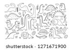 funny dinosaurs collection ... | Shutterstock .eps vector #1271671900