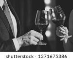 Cheers  Couple Clink Glasses...