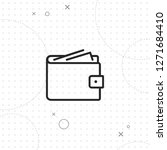 purse icon  vector best flat... | Shutterstock .eps vector #1271684410