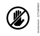 do not touch icon vector  on... | Shutterstock .eps vector #1271684863