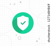 protection icon  vector best... | Shutterstock .eps vector #1271684869