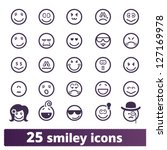 Smiley Icons  Vector Set Of...