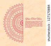 half of mandala with text on... | Shutterstock .eps vector #127170884