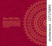 red mandala ornament background ... | Shutterstock .eps vector #127170890